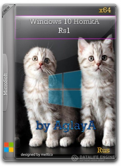 Windows 10 HomkA Rs1 x64 / by AglayA / ~rus~