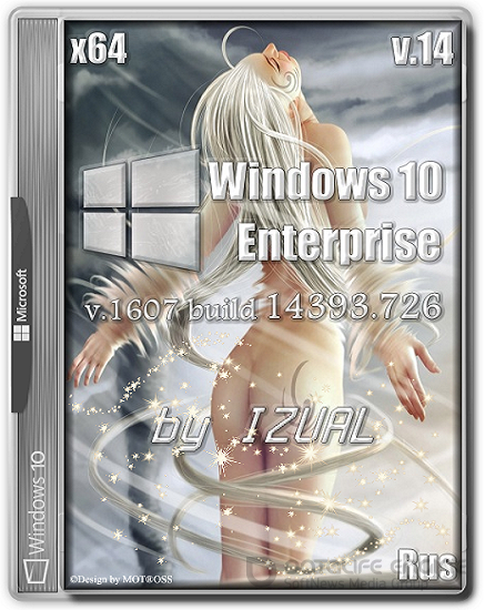 Windows 10 Enterprise 14393.726 v.1607 by IZUAL v.14 (x64) (2017)