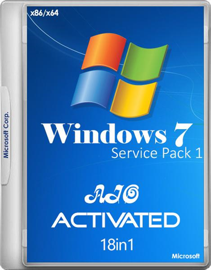 Windows 7 SP1 RUS-ENG x86-x64 -18in1- Activated v6 (AIO) by m0nkrus